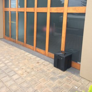 Parcel Receptacle box at tilt garage door